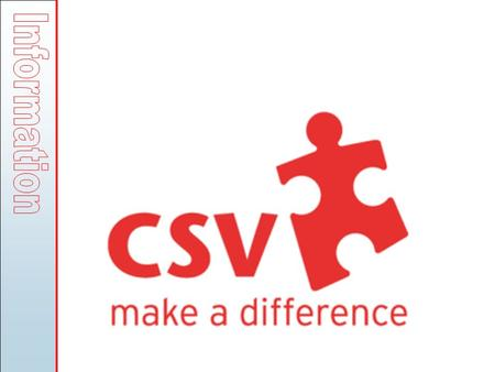 CSV - Community Service Volunteers: Established 1962, a national registered charity UK's leading volunteering and training organisation Winner of the.