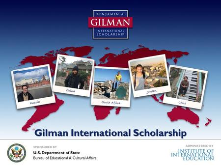 Gilman International Scholarship. Benjamin A. Gilman International Scholarship Program Mission: To diversify the kinds of students who study and intern.