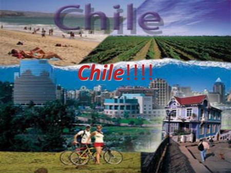 Chile Chile!!!!. Location Chile is located on the south western coast of South America. The surrounding countries are Bolivia, Peru and Argentina. Chile's.