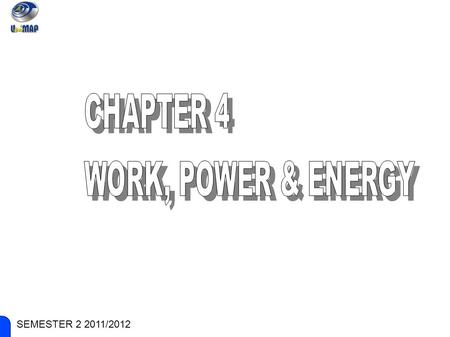 ENGINEERING PHYSICS SEMESTER 2 2011/2012. ENGINEERING PHYSICS SUB-CHAPTERS: ● Work and standard units ● Power concept & Power Calculation ● Kinetic energy.