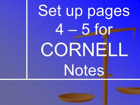 Set up pages 4 – 5 for CORNELL Notes. Texas Secedes The Republican party was formed in 1854 to stop the spread of slavery The Republican party was formed.