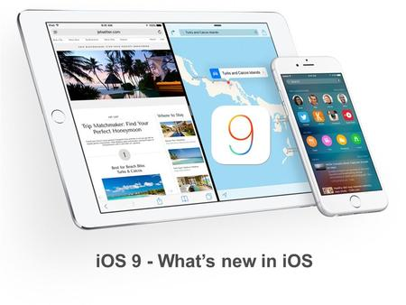 IOS 9 - What's new in iOS. Apple's iOS 9 is now available for download for all iPhone, <strong>iPad</strong>, and iPod touch models that can run iOS 8. According to Apple,