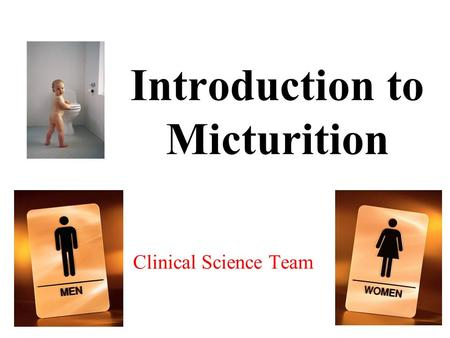 Introduction to Micturition Clinical Science Team.