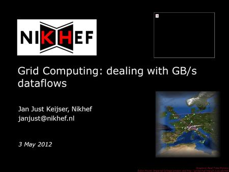 Grid Computing: dealing with GB/s dataflows David Groep, NIKHEF Graphics: Real Time Monitor, Gidon Moont, Imperial College London, see