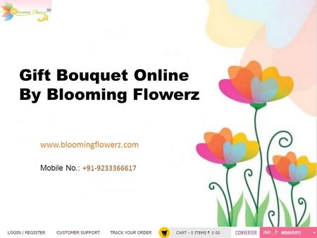 Gift Bouquet Online By Blooming Flowerz  Mobile No.: +91-9233366617.