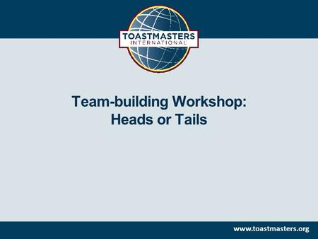 Team-building Workshop: Heads or Tails.