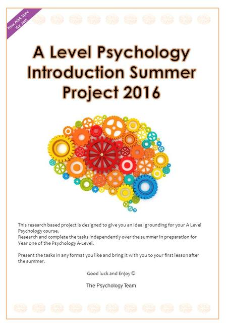 psychology coursework project brief