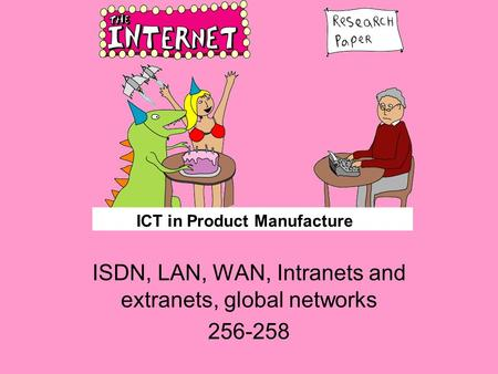 ICT in Product Manufacture ISDN, LAN, WAN, Intranets and extranets, global networks 256-258.