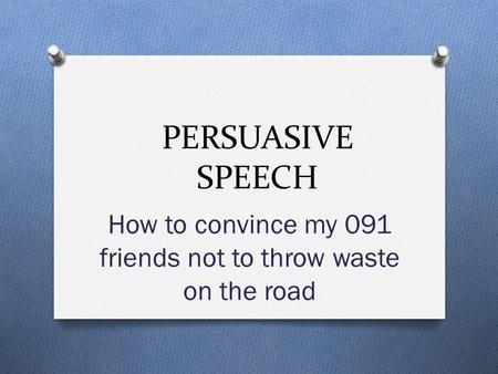 Examples of Persuasive Speeches – PDF