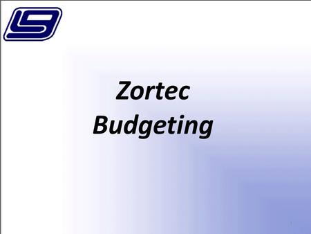 1 Zortec Budgeting. 2 In this session we will cover the basics of LGC's Zortec General Ledger Budgeting features. Topics include:  Manual Budget Projections.
