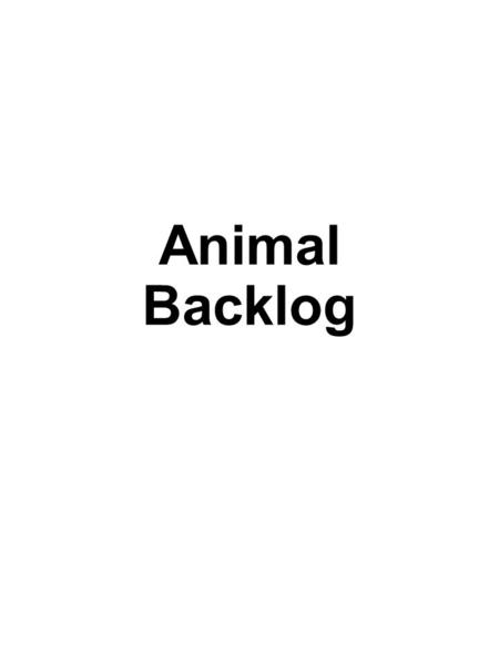 Animal Backlog. Cover Page Zoo logo and name centered on top of page Map of the zoo Images of at least three animals Panda Bear Page Show both common.