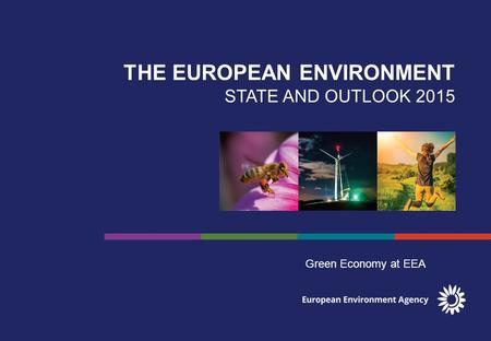 THE EUROPEAN ENVIRONMENT STATE AND OUTLOOK 2015 Green Economy at EEA.