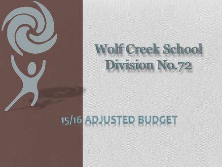 Wolf Creek School Division No.72. Why do we adjust the spring budget? Alberta Education requirement of a budget update. This is an information only item.