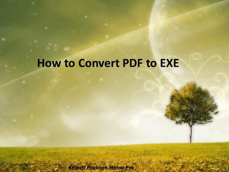 How to Convert PDF to EXE. Do you have many PDFs document and want all to.exe and distribute them into your CD, so your customers can run the.exe files.