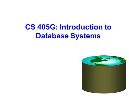 CS 405G: Introduction to Database Systems. 9/29/20162 Review What Is Data Mining? Data mining (knowledge discovery from data) Extraction of interesting.