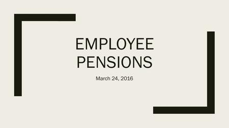 EMPLOYEE PENSIONS March 24, 2016. Quiz Which costs the city of Houston the most? A) Parks B) Libraries C) Trash collection D) Firefighters' pension payments.