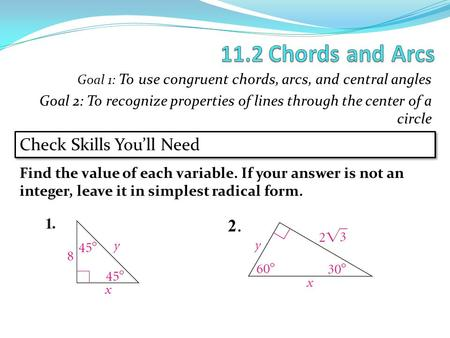 PA and PB are tangent to C. Use the figure for Exercises 1–3 ...