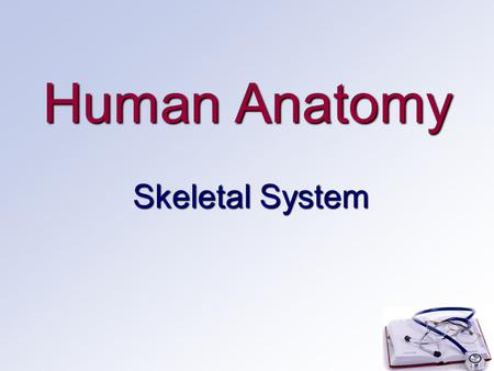 Human Anatomy Skeletal System. Functions Support: body structure and shape Protection for vital organs (brain, heart, etc.) Movement for attached skeletal.