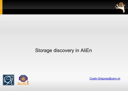 Storage discovery in AliEn