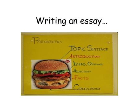 Writing an essay…. Writing is necessary for all students in higher education. It is a process. It starts from understanding your task. It then goes on.