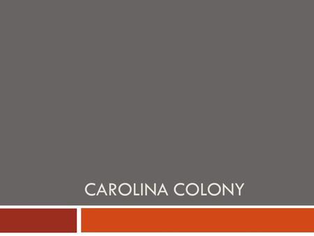 CAROLINA COLONY. Settled  First attempt is started by Sir Walter Raleigh at Roanoke and fails  Second settlement created near Albemarle Sound by colonists.