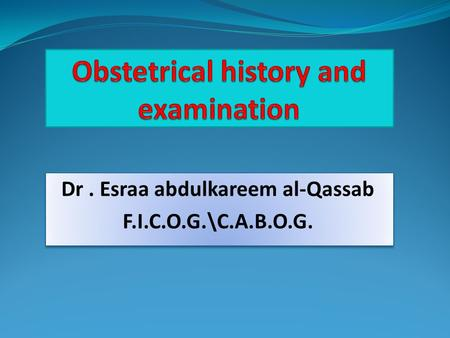 obstetrics and gynecology history taking and physical examination pdf
