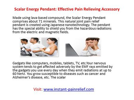 Scalar Energy Pendant: Effective Pain Relieving Accessory Made using lava-based compound, the Scalar Energy Pendant comprises about 71 minerals. This natural.