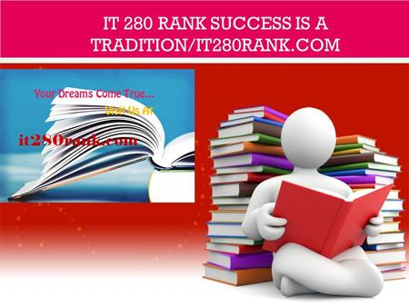 IT 280 RANK SUCCESS IS A TRADITION/IT280RANK.COM.