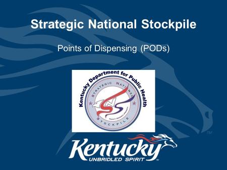 Strategic National Stockpile Points of Dispensing (PODs)