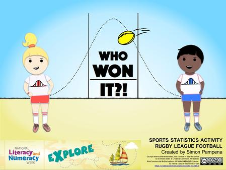 Who Won It? SPORTS STATISTICS ACTIVITY RUGBY LEAGUE FOOTBALL Created by Simon Pampena Except where otherwise noted, the content in this document is licensed.