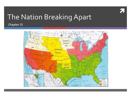  The Nation Breaking Apart Chapter 15. The North and South Take Different Paths North South In the early 1800s, the North began to develop more industry.