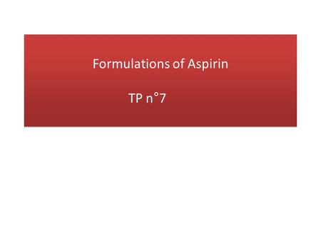 Formulations of Aspirin TP n°7. Experimental setup : a. Grind the aspirin pill in a mortar, then pour some ethanol in order to dissolve the pill. b. Filter.