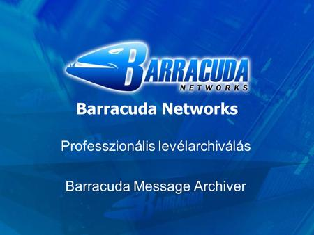 Barracuda Networks Professzionális levélarchiválás Barracuda Message Archiver.