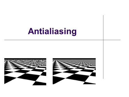 Antialiasing. What is alias? Alias - A false signal in telecommunication links from beats between signal frequency and sampling frequency (from dictionary.com)