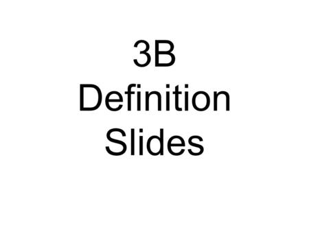 3B Definition Slides. Lesion = tissue destruction; a brain lesion is a naturally or experimentally caused destruction of brain tissue.