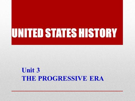 an introduction to the progressive era in the united states The gilded age vs the progressive era  introduction conclusion the progressive era  the progressive era was more transformational for the united states.