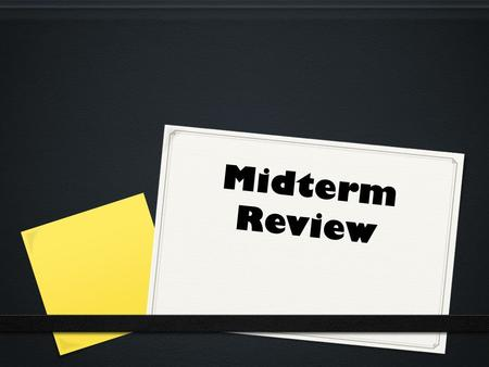 Political Science Midterm Review Essay Sample
