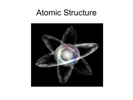 Atomic Structure. Sub-Atomic Particles Nucleus – a dense, positively charged region at the center of the atom Proton p +  Positively charged particle.