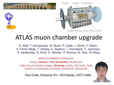 ATLAS muon chamber upgrade Within the MAMMA collaboration Arizona, Athens(U, NTU, Demokritos), Brookhaven, CERN, Harvard, Istanbul, Naples, CEA Saclay,