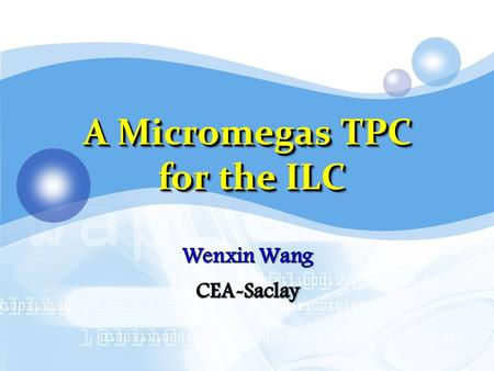 A Micromegas TPC for the ILC. 2 Introduction: Micromegas & TPC I. Micromegas ILC-TPC ILC & LP-TPC Beam test with Micromegas modules Test bench Ion backflow.