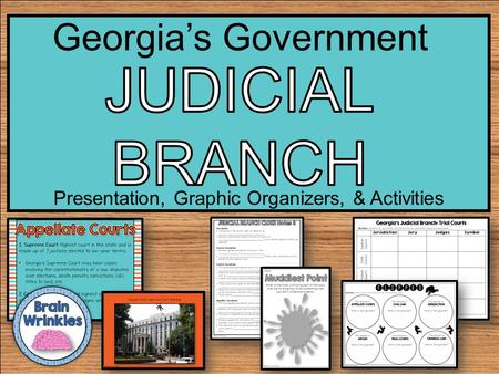 Presentation, Graphic Organizers, & Activities Georgia's Government.