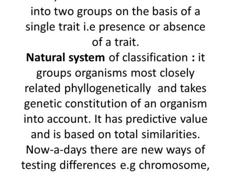 LECTURE 5: Introduction to the principles of plant taxonomy a.Definition of plant taxonomy Taxonomy can be defined as a study aimed at producing a system.