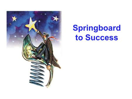 Springboard to Success. So What is Springboard to Success? Provide some insight into the SIUE experience Provide helpful tips to avoid pitfalls and be.
