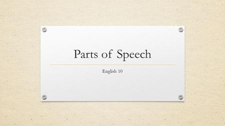 Parts Of Speech In Friend S Dog