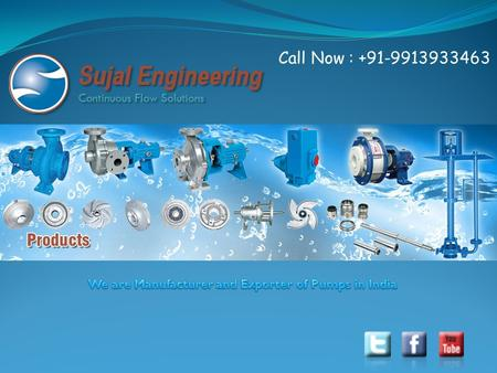 Call Now : +91-9913933463. Welcome to our website Sujal Engineering is a professionally managed manufacturer of SCPP SERIES, Self Priming Non Clog Pump,