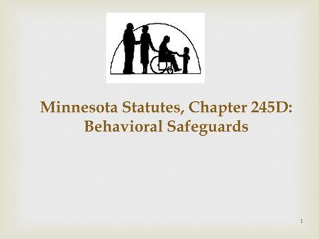 1.  - Minnesota Statutes, Chapter 245D is effective January 1, 2014. - Within 24 months, DHS shall adopt any needed supporting rules to govern 245D: