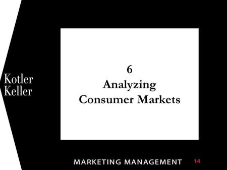 6 Analyzing Consumer Markets 1. Copyright © 2012 Pearson Education 6-2 Chapter Questions  How do consumer characteristics influence buying behavior?