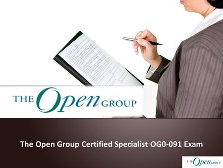 Exam The Open Group Certified Specialist OG0-091 Exam.