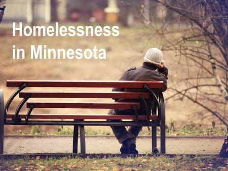 Wilder Research Homelessness in Minnesota. Wilder Research conducts a one-night statewide survey of homeless people every three years.