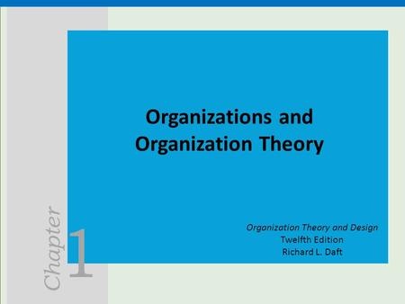 richard l daft s organizational life cycle Richard l daft vanderbilt mintzberg's organizational types 26 chapter 12: organization size and life cycle purpose of this chapter, 452.